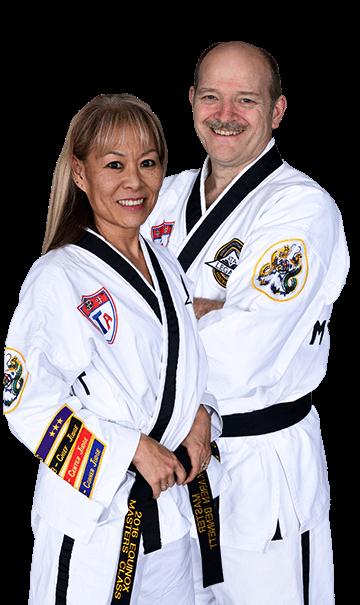 Karen and David Bennett Cloverdale Black Belt Academy